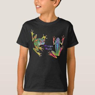 Frogs Rule Kids Dark T-Shirts