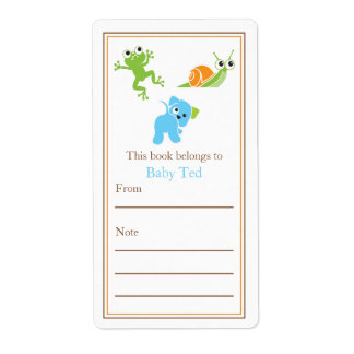 Frogs, Sails and Puppy Dog Tails | Bookplate