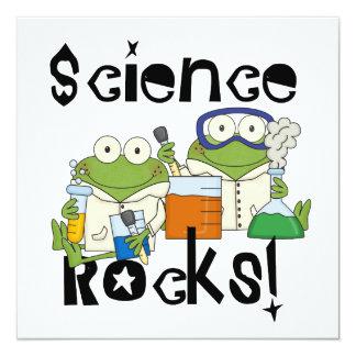 Frogs Science Rocks Custom Invites