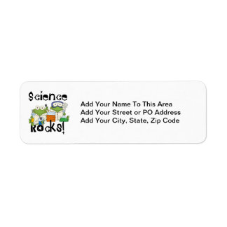 Frogs Science Rocks Return Address Label
