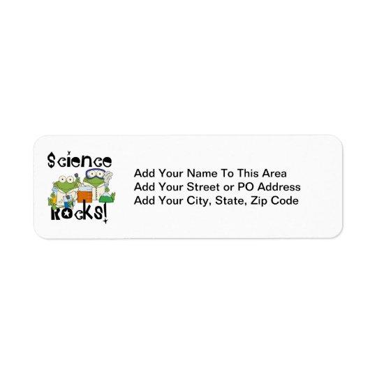 Frogs Science Rocks Return Address Label