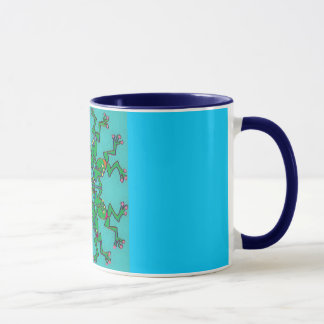 frogs synchronised swimming mug