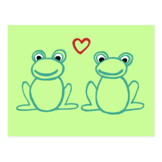 Frogs with Heart Postcard