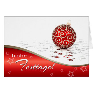 Frohe Festtage. Christmas Cards in German