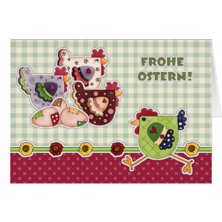 Frohe Ostern. Custom Easter Cards in German