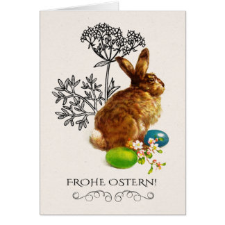 Frohe Ostern.Happy Easter Greeting Cards in German