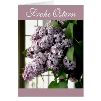Frohe Ostern Lilac Bouquet Card