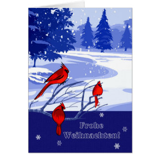 Frohe Weihnachten. Christmas Cards in German