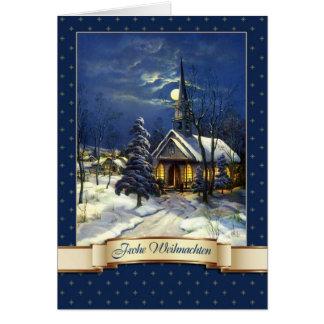 Frohe Weihnachten. German Christmas Card