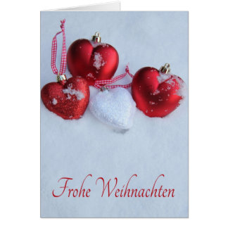 Frohe Weihnachten, german christmas card