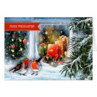 Frohe Weihnachten. German Christmas Greeting Card