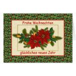 Frohe Weihnachten German Christmas - Poinsettia