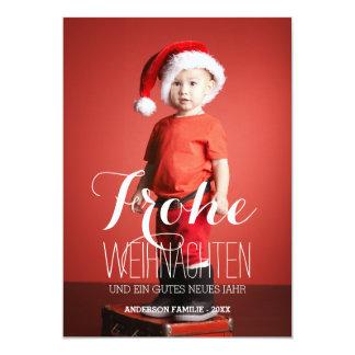 Frohe Weihnachten | German Holiday Photo Card
