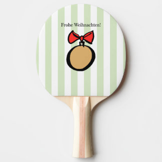 Frohe Weihnachten Gold Ornament Ping Pong Paddle