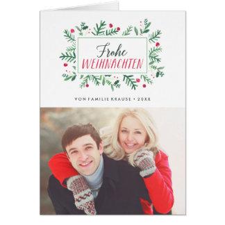 Frohe Weihnachten Laub   Weihnachtskarte Card