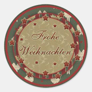 """""""Frohe Weihnachten"""" sticker"""