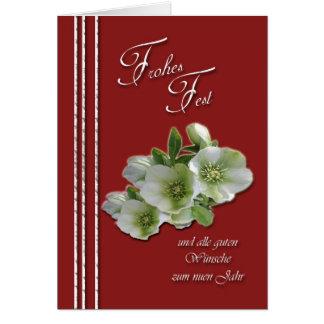 Frohes Fest und alle guten Wünsche zum nuen jahr Card
