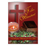 Frohes Weihnachten German Merry Christmas Greeting Cards