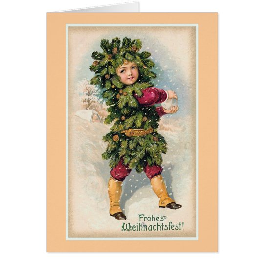 """Frohes Weihnachtsfest"" Vintage Christmas Card"