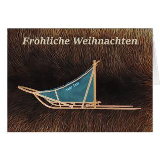 Fröhliche Weihnachten - Dog Sled Card