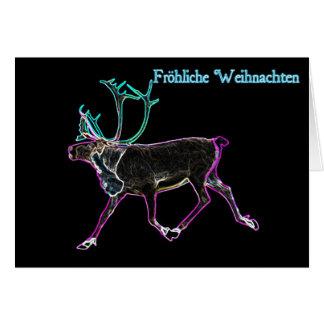 Frohliche Weihnachten - Electric Caribou Card