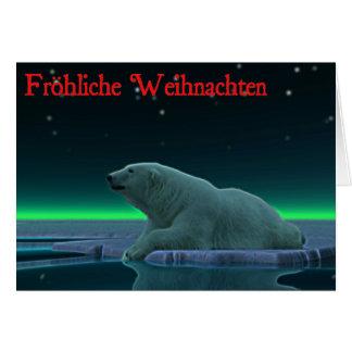 Frohliche Weihnachten - Ice Edge Polar Bear Greeting Card