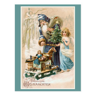 Frohliche Weihnachten Vintage German Postcard