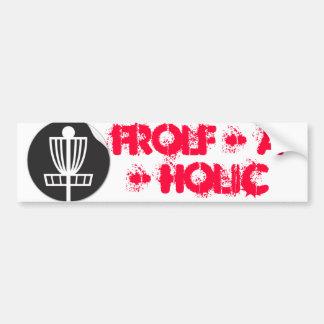 Frolf - A - Holic Bumper Sticker