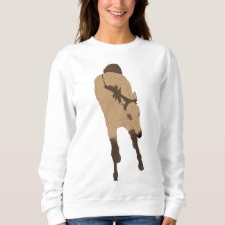 Frolicking Dun Horse Sweatshirt