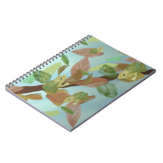 Frolicking Frogs Spiral Notebooks