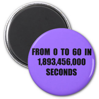 From  0 to 60 in seconds refrigerator magnets