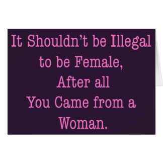 From a Woman Card
