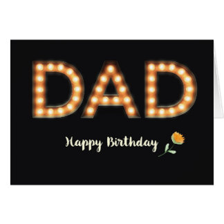 From All of Us, Dad, Happy Birthday, Marquee Light Greeting Card
