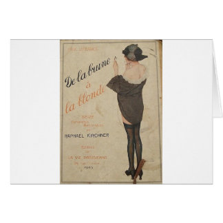 From Brown to Blonde by Raphael Kirchner Card
