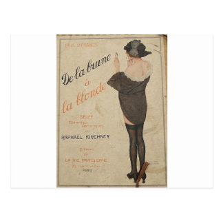 From Brown to Blonde by Raphael Kirchner Postcard