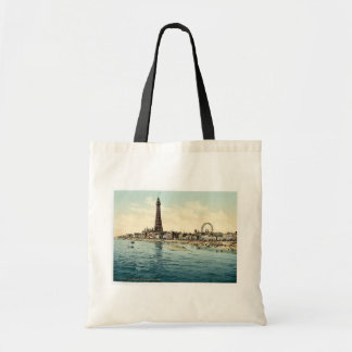 From Central Pier, Blackpool, England vintage Phot Tote Bag