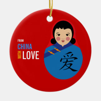 From China With Love Adoption Keepsake Girl Ceramic Ornament