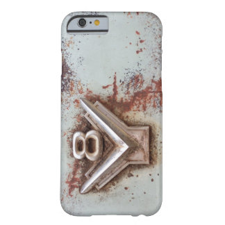 From classic car: Rusty old v8 badge in chrome Barely There iPhone 6 Case