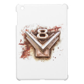 From classic car: Rusty old v8 badge in chrome iPad Mini Cover