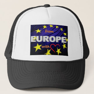 from europe with love trucker hat