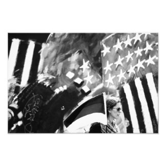 From flags surrounds photo print