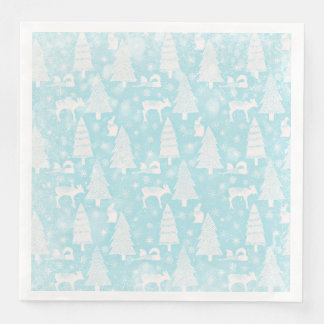 From Foxes Deers and Christmas-Teal Xmas Disposable Serviettes