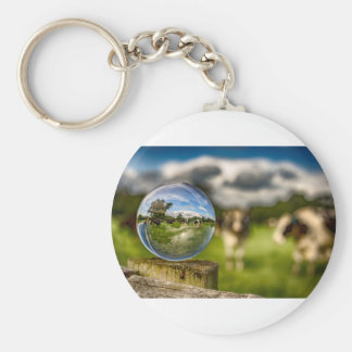 From Grass To Glass Basic Round Button Key Ring