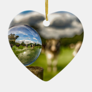From Grass To Glass Ceramic Heart Decoration
