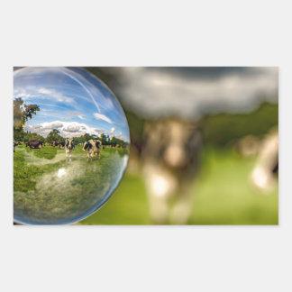 From Grass To Glass Rectangular Sticker