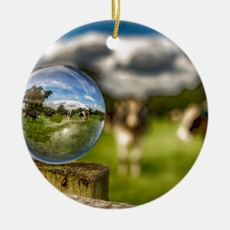 From Grass To Glass Round Ceramic Decoration