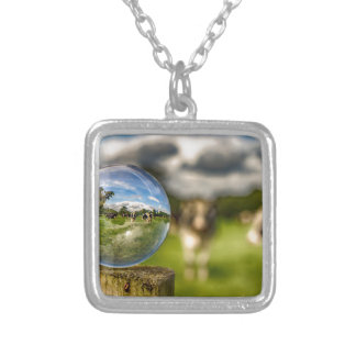From Grass To Glass Silver Plated Necklace