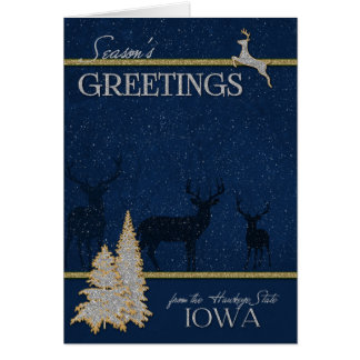 from Iowa The Hawkeye State Christmas Card