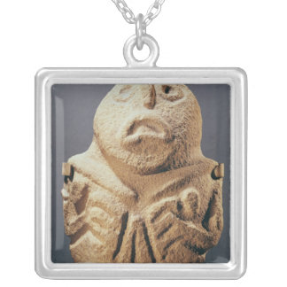 from Lepenski Vir, Yugoslavia Silver Plated Necklace