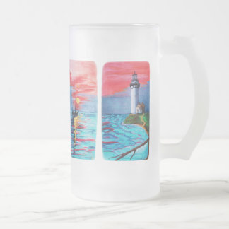 From Lighthouse Mermaids Frosted Glass Beer Mug